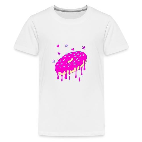 Drippy Pink Donut - Teenager Premium T-Shirt