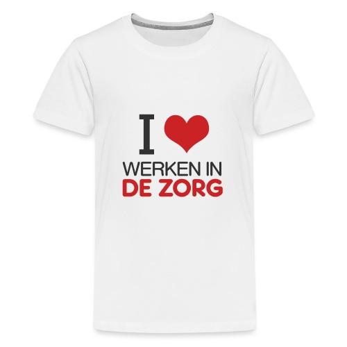 I LOVE Werken in de zorg - Teenager Premium T-shirt