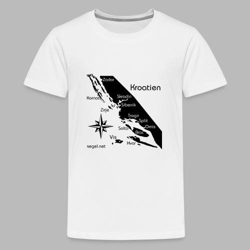 Crewshirt Urlaub Motiv Kroatien - Teenager Premium T-Shirt