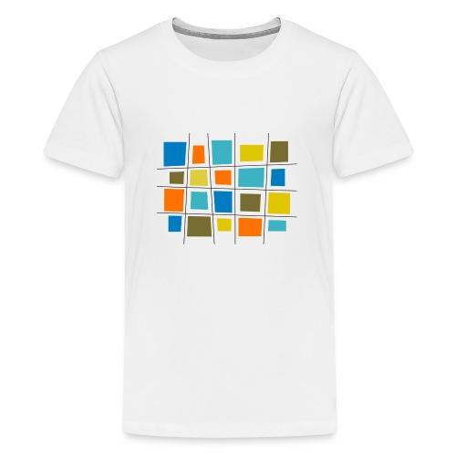 colored patchwork - Maglietta Premium per ragazzi