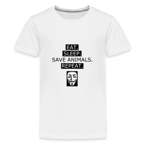Eat Sleep Save Animals - T-shirt Premium Ado