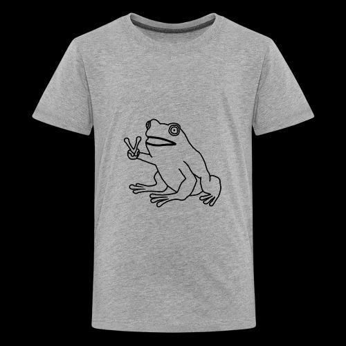 Funny Animal Frog Frosch - Teenager Premium T-Shirt