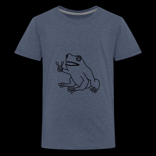 Funny Animal Frog Frosch - Teenager Premium T-Shirt