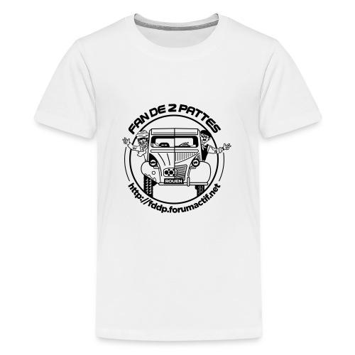 logonoiretblanc - T-shirt Premium Ado