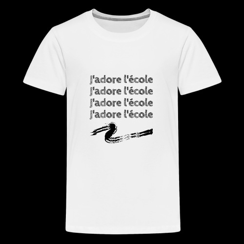 J'adore l'école - T-shirt Premium Ado