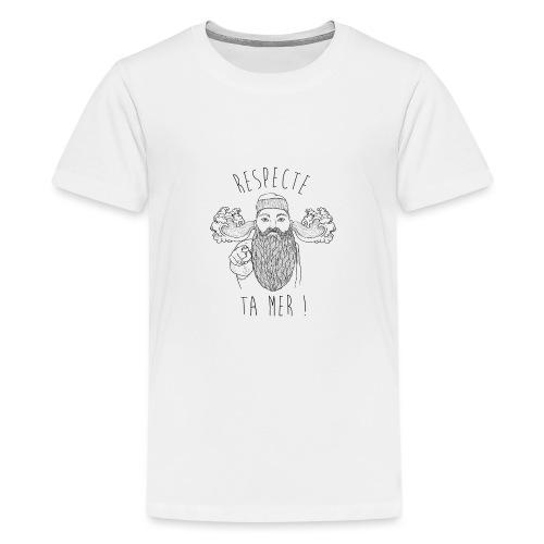 respecte ta mer - Marin - T-shirt Premium Ado