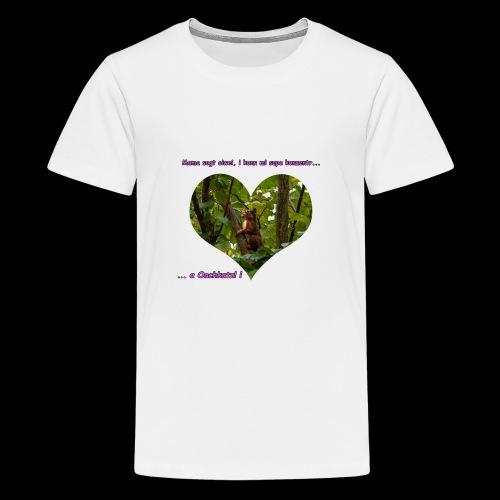 Oachkatzl rosa - Teenager Premium T-Shirt
