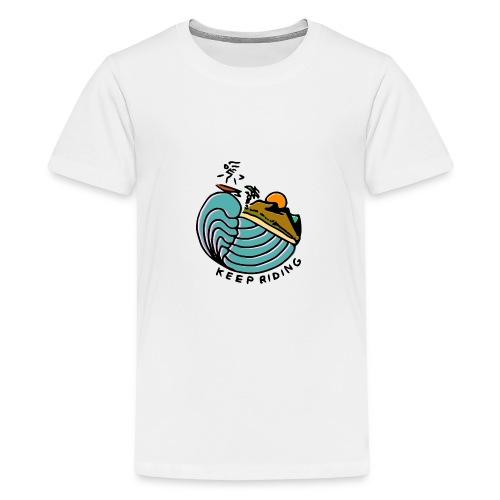 Surfer im Sonnenuntergang - Teenager Premium T-Shirt