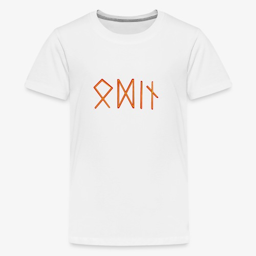 Odin in Runenschrift - Teenager Premium T-Shirt