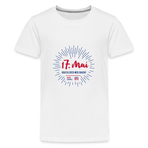 17. mai T-skjorte - Det norske plagg - Premium T-skjorte for tenåringer