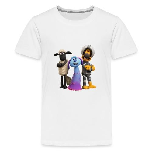 Shaun das Schaf Farmageddon Shaun, Bitzer und Lula - Teenager Premium T-Shirt