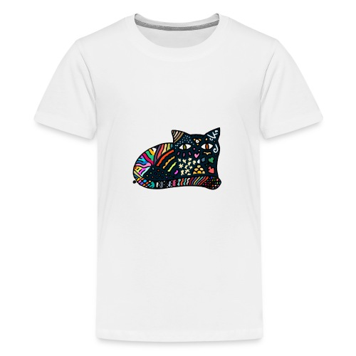 Chat Onirique - T-shirt Premium Ado