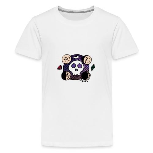 Schädel Mond am Rande des Weltraums - Teenager Premium T-Shirt