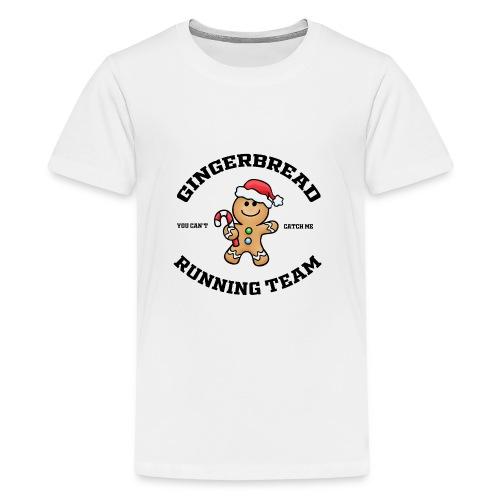 gingerbread running team - Teenage Premium T-Shirt