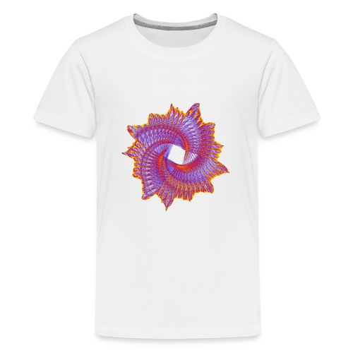 Spiral fan ammonite prehistoric animal fossil 11912bry - Teenage Premium T-Shirt