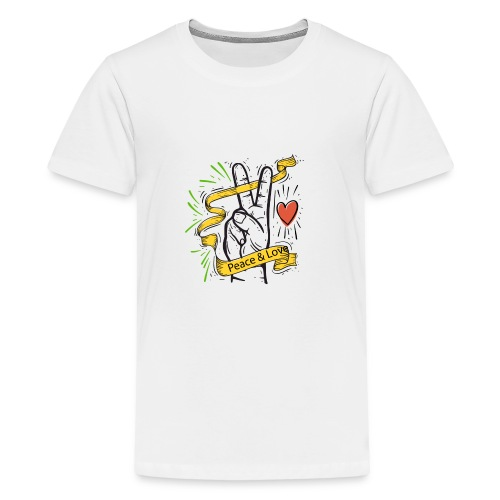 Peace and Love - T-shirt Premium Ado