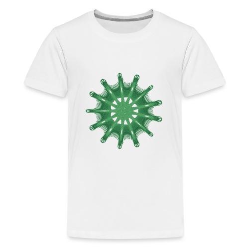 grünes Steuerrad Grüner Seestern 9376alg - Teenager Premium T-Shirt