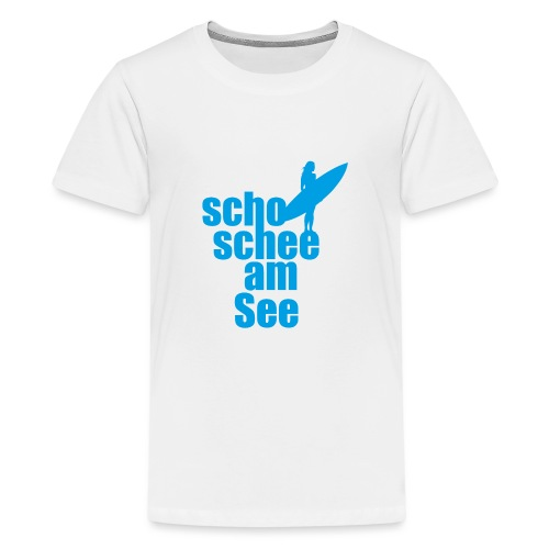 scho schee am See Surferin 02 - Teenager Premium T-Shirt