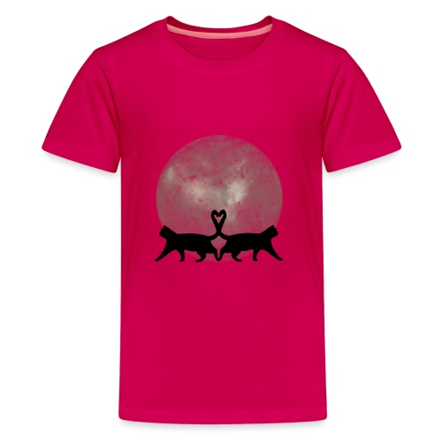 Cats in the moonlight - Teenager Premium T-shirt