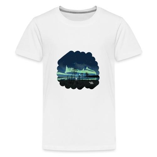 Reflet des aurores boréales - T-shirt Premium Ado