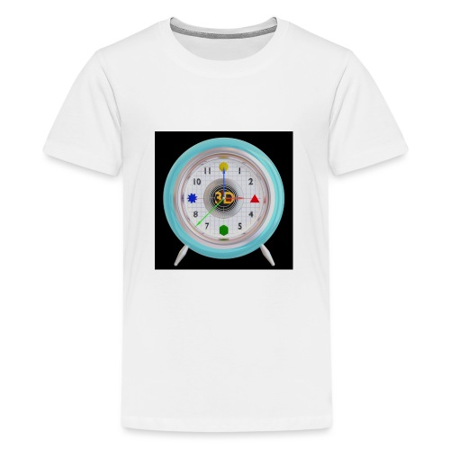 3D O' Clock with 3D engine and objects. - Teenage Premium T-Shirt