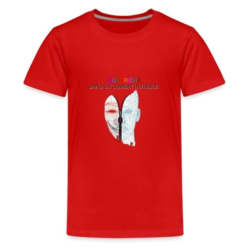 Guerrière dans un combat invisible 02 - T-shirt Premium Ado
