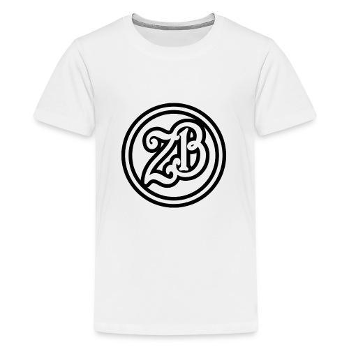 ZB Vlogs Hat - Graphite/Black - Teenage Premium T-Shirt