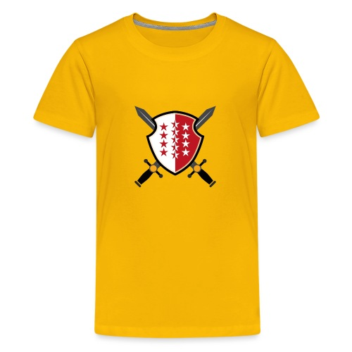 Valais avec épées - Teenager Premium T-Shirt