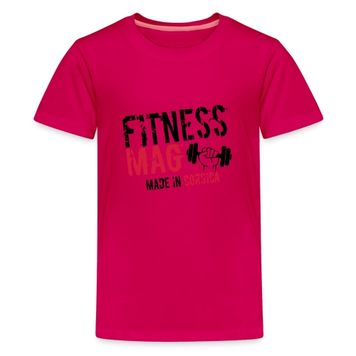 Fitness Mag made in corsica 100% Polyester - T-shirt Premium Ado