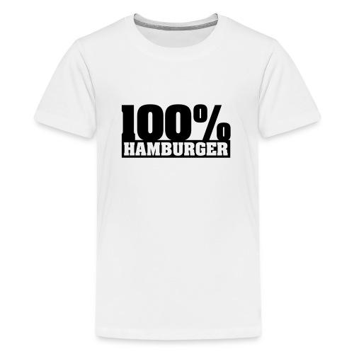 100% Hamburger Typo 2 - Teenager Premium T-Shirt