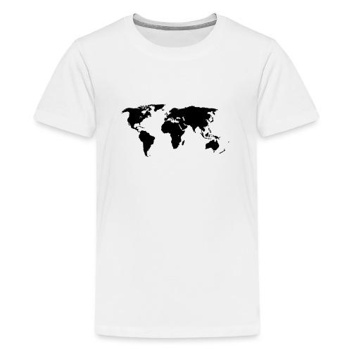 World Outline - Teenage Premium T-Shirt