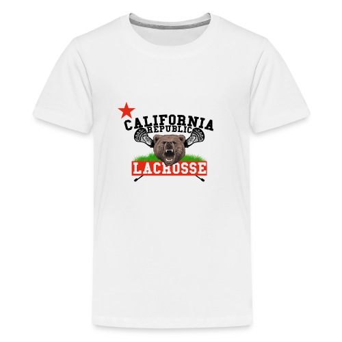 California Republic Lacrosse - Teenager Premium T-Shirt