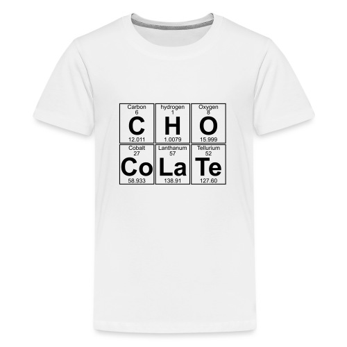 C-H-O-Co-La-Te (chocolate) - Full - Teenage Premium T-Shirt