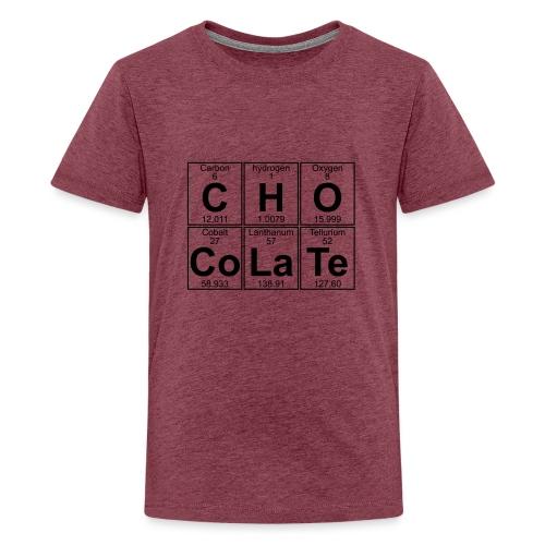 C-H-O-Co-La-Te (chocolate) - Full - Teenage Premium T-Shirt