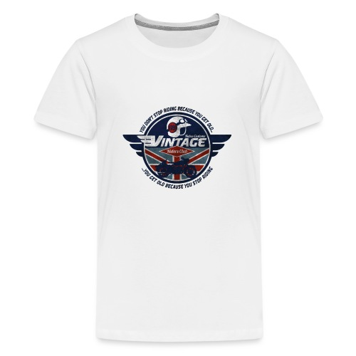 Kabes Vintage Riders Club - Teenage Premium T-Shirt