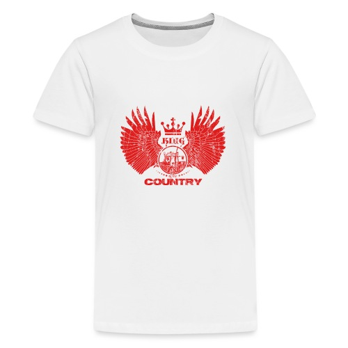 IH KING of the COUNTRY (Red design) - Teenager Premium T-shirt
