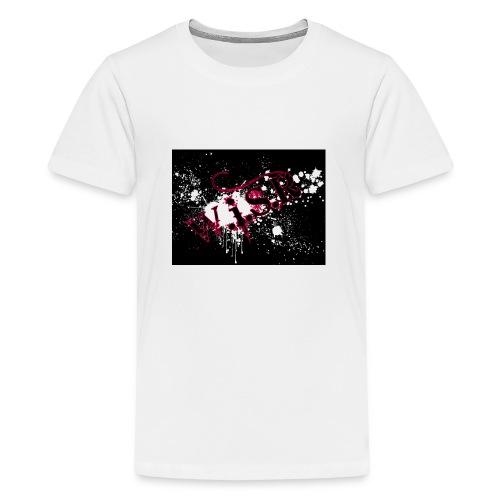 wisr puna musta splash t-paita - Teinien premium t-paita