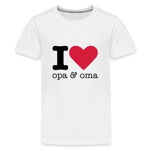 I Love Opa & Oma - Teenager Premium T-shirt