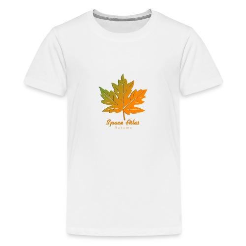 Space Atlas Long Sleeve T-shirt Autumn Leaves - Teenager premium T-shirt