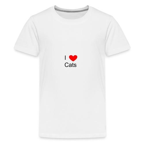 Katzen Merch - Teenager Premium T-Shirt