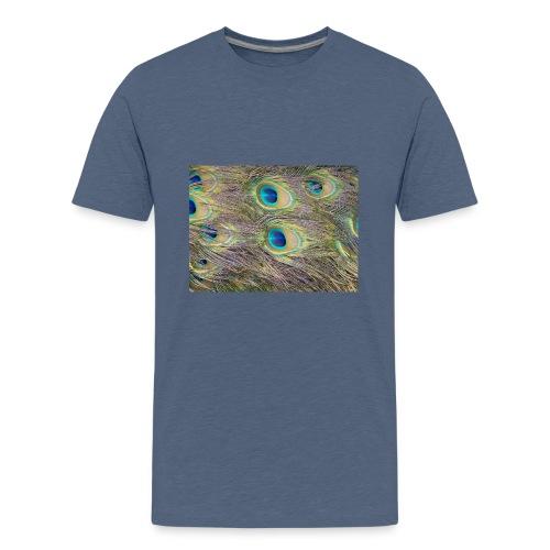 Peacock feathers - Teinien premium t-paita