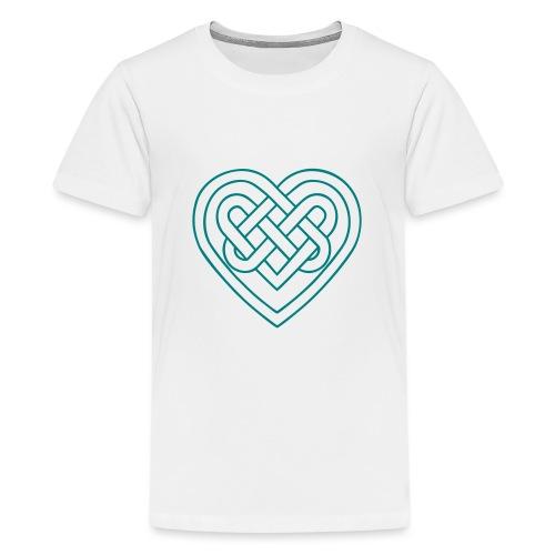 Keltisches Herz, Endlos Knoten, Liebe & Treue - Teenager Premium T-Shirt