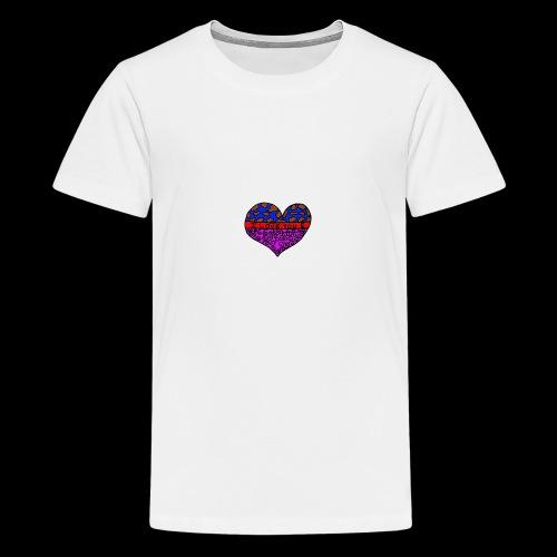 Herz Leben Welt Love you - Teenager Premium T-Shirt