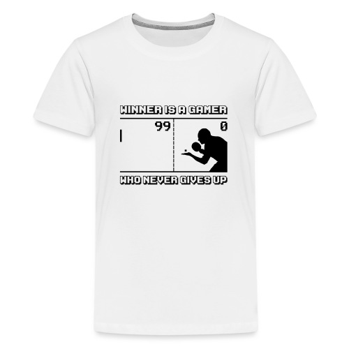 Never gives up (pong version) - T-shirt Premium Ado
