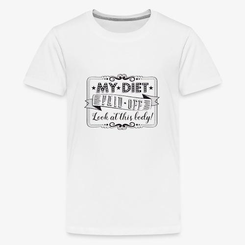 Handlettering My diet paid off (zwart) - Teenager Premium T-shirt