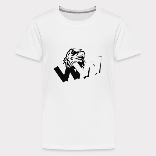 White and Black W with eagle - Teenage Premium T-Shirt