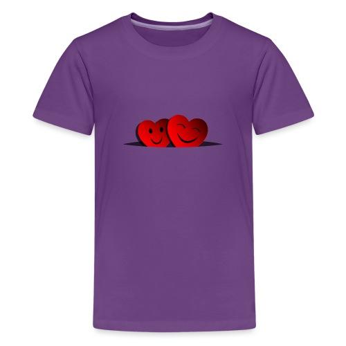 Happy hearts - Maglietta Premium per ragazzi