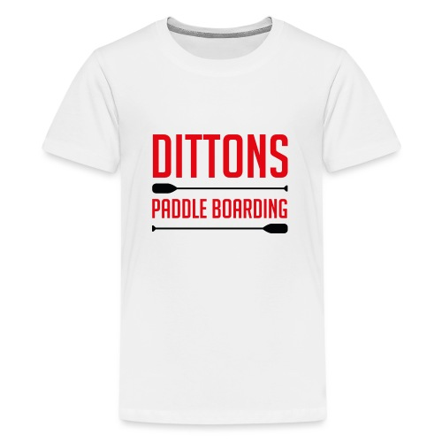 Dittons Paddle Boarding Logo - Teenage Premium T-Shirt