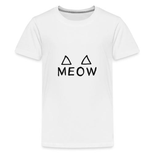 Meow - T-shirt Premium Ado