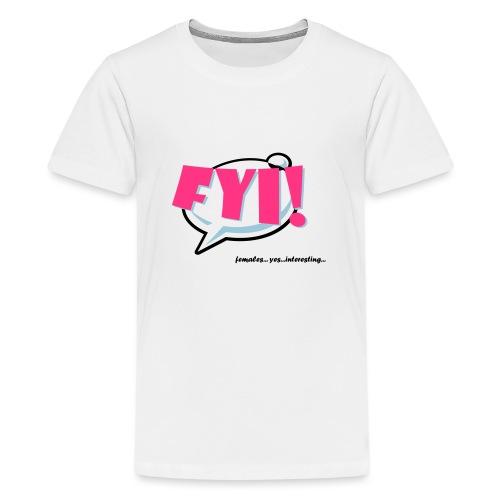 FYI.ai - Teinien premium t-paita